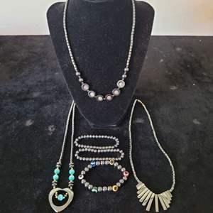 Lot # 356 Hematite Necklaces & Bracelets