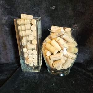 Lot # 381 (2) Vases Filled w/ Corks