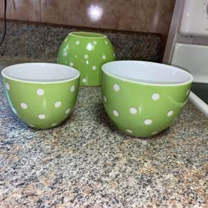 Lot # 401 Signature Polka Dot Bowls