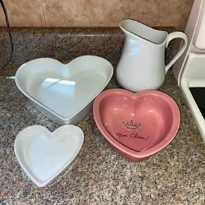 Lot # 409 Heart Pans & More