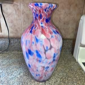 Lot # 434 Beautiful Pink & Blue Vase
