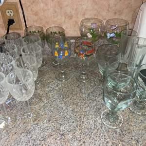 Lot # 446 Assortment of Glass Barware