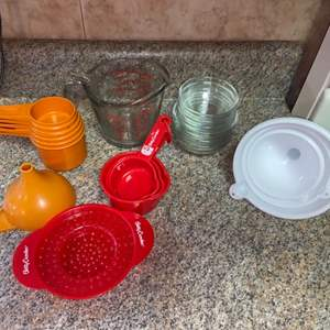 Lot # 451 Measuring Cup, Funnel & More