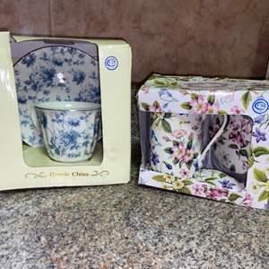 Lot # 457 (2) Tea Cup & Saucer Gift Sets