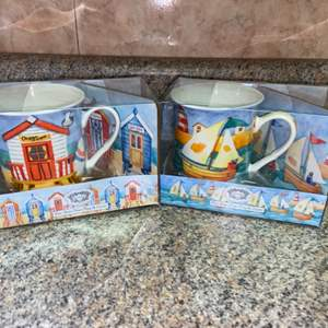 Lot # 458 (2) Kent Pottery Mug & Coaster Sets