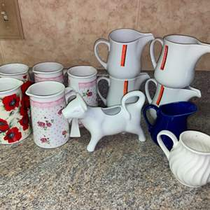 Lot # 464 Collection of Creamers