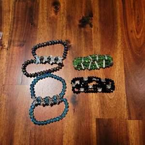 Lot # 481 (3) Double Layer Bracelets