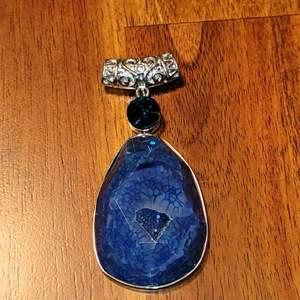Lot # 487 Gorgeous Deep Blue Stone Pendant