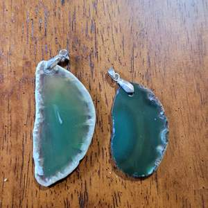 Lot # 489 (2) Stone Pendants