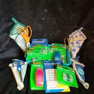 Lot # 517 Assorted Scissors & Tape w/ Refills