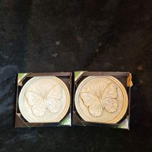 Lot # 522 (2) Butterfly Wall Plaques - New