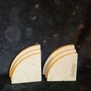 Lot # 523 Marble Book Ends