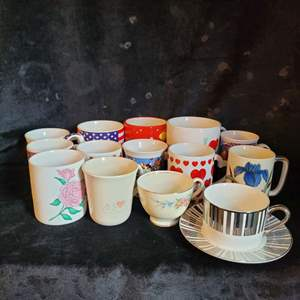 Lot # 539 (14) Assorted Coffee Cups