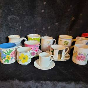 Lot # 540 (12) Assorted Coffee Cups