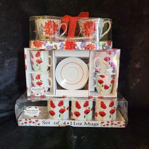 Lot # 541 (3) Sets of Coffee Cups- NIP