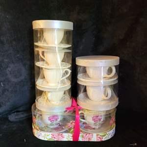 Lot # 542 (3) Sets of Coffee Cups- NIP