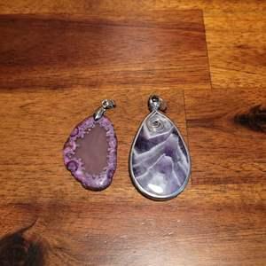 Lot # 572 (2) Beautiful Stone Pendants