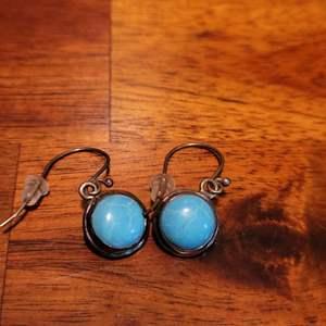 Lot # 576 Sterling Silver Earrings w/ Turquoise Stones