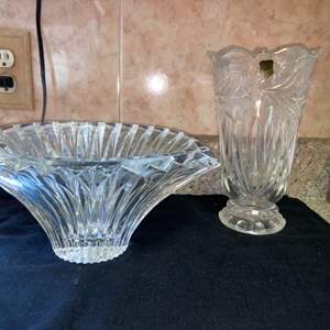 Lot # 584 Beautiful Poland Crystal Vases