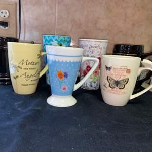 Lot # 596 Tall Coffee Mugs