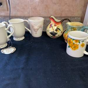 Lot # 607 Assortment of Mugs and Creamers