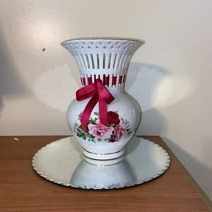 Lot # 617 Floral Vase