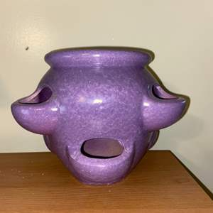 Lot # 620 Purple Succulent Pot