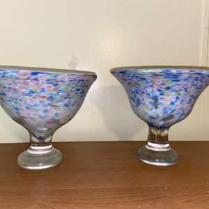 Lot # 624 (2) Confetti Glass Bowls