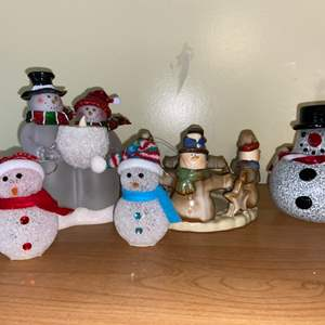 Lot # 626 Collection of Snowmen