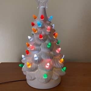 Lot # 627 Beautiful White Christmas Tree