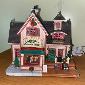 Lot # 632 Carole Towne Christina's Christmas Shoppe Lighted Christmas House