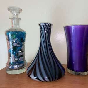 Lot # 635 Vases & Decanter