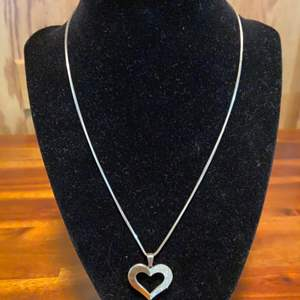 Lot # 651 Heart Charm & Necklace