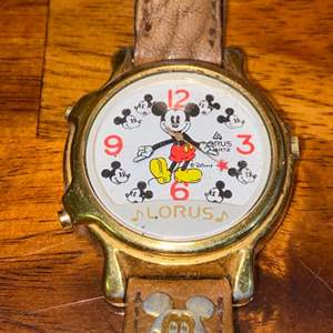 Lot # 654 Vintage Lorus Mickey Mouse Watch