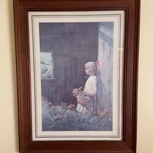 """Lot # 672 Framed Adolf Sehring """"Summer's Daydream"""" Offset Lithograph"""