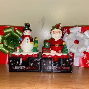 Lot # 691 Christmas Stocking Holders & Metal Present Bags
