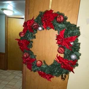 Lot # 696 Huge Christmas Wreath