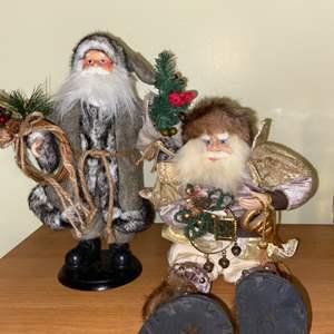 Lot # 710 (2) Decorative Santas