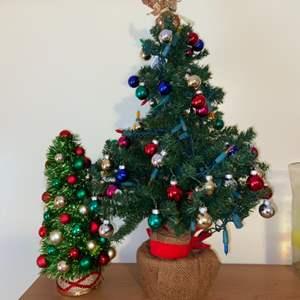Lot # 711 Table Top Christmas Trees