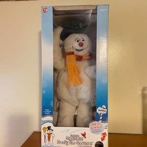Lot # 715 Spinning Snowflake Frosty the Snowman New in Box