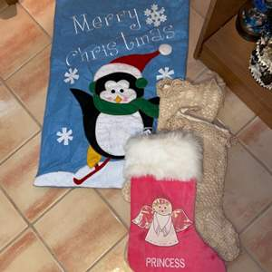 Lot # 722 Stockings & Gift Bag
