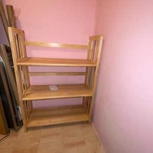 Lot # 724 3 Tier Wood Shelf