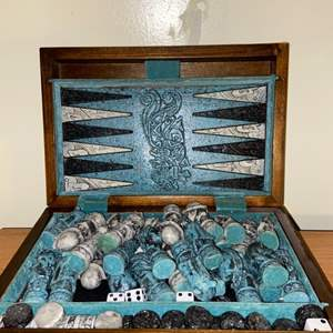 Lot # 731 Nice Dual Gameboard for Chess and Backgammon - See pics