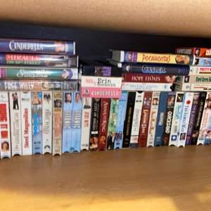Lot # 733 VHS Tapes (vintage Disney)