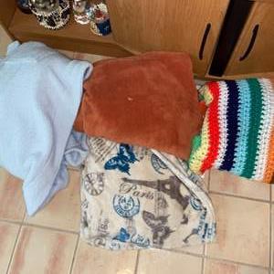 Lot # 745 (3) Blankets & Plush Robe