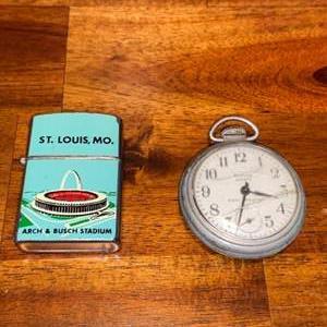 Lot # 765 Pocket Watch & Souvenir Lighter