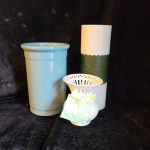 Lot # 783 (3) Assorted Vases