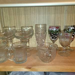Lot # 791 Assorted Drinking Glassware
