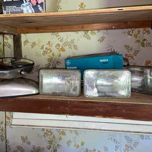Lot # 822 Halogen Car Lights & Car Mirrors