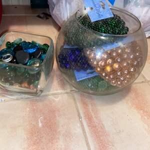 Lot # 838 Bowls of Decorative Marbles